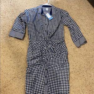 NWT-Gap-Sarah Jessica Parker-Gingham Shirt Dress